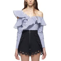 e4385fee933f3 Find More Blouses  amp  Shirts Information about 2018 New Sexy Women  Striped Blouse Elegant Oblique