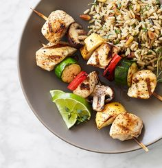 Foster Farms Recipe: Chile-Lime-Rubbed Chicken Kabobs