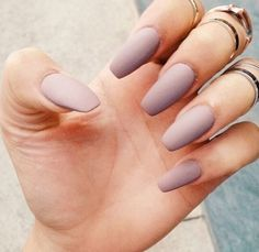 I don't know why I have an obsession with matte nails ! Pastel purple matte nails :D // nails // simple Love Nails, How To Do Nails, Pretty Nails, My Nails, Kylie Nails, Nagel Hacks, Manicure Y Pedicure, Manicure Ideas, Nail Tips
