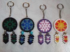 Dreamcatcher keyrings hama beads by Mademoisellekoala