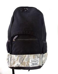 cb26846a2b3 Levi s 3074c02 Rockland 18 Laptop ipad Sleeve Camo Stripe Black Backpack