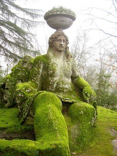 The Garden of Monsters in Bomarzo, Italy: the park is home to breathtakingly beautiful stone sculptures depicting mythical creatures that are scattered around the grounds