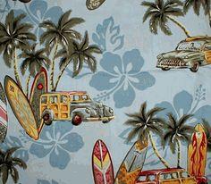 Hawaiian Surf bedding / Vintage Surf Bedding and decor