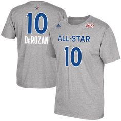 Men s DeMar DeRozan adidas Gray 2017 All-Star Game Name  amp  Number T- e2751955d48