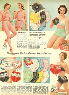 1958 Sears Christmas Catalog Ad :: Record Underwear lol  I never had these, honest!  But in 1958 I wasn't a teenager either! lol  I love this ad!
