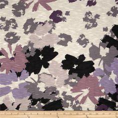 Designer Slub Rayon Jersey Knit Abstract Rose - Discount Designer Fabric - Fabric.com