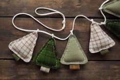 Winter Tree Garland - Primitive Woodland Home Decor - Camping Bunting - Cabin Decor Christmas Gifts for my boys. Christmas Makes, Noel Christmas, Homemade Christmas, Rustic Christmas, Winter Christmas, Beautiful Christmas, Handmade Christmas Tree, Primitive Christmas, Christmas Shirts