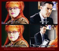 When Garcia doesn't want to discuss the thing with Hotch! #ClassicGarcia