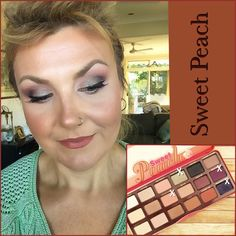 Going green using 'Bless Her Heart' from Too Faced Sweet Peach palette. Cruelty free.