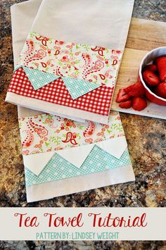 Adorable Tea Towel Tutorial teaches you how to sew an adorable Tea Towel. Use up your scraps and DIY something.