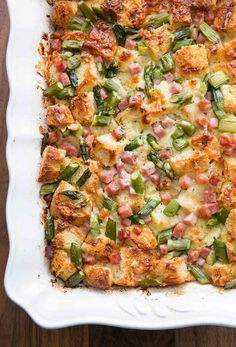 Ham and Asparagus Strata! Breakfast casserole