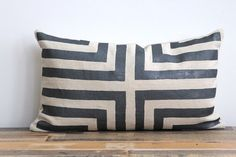 Doha pillow cover hand printed in metallic by ChaneeVijayTextiles