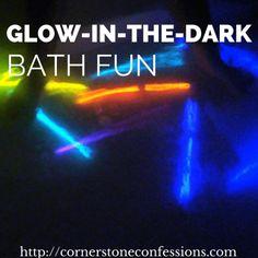 Glow-in-the-Dark Bath Fun