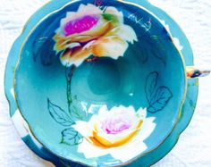 Occupied Japan Echo China Jade Green Rose Tea Cup and Saucer - Edit Listing - Etsy