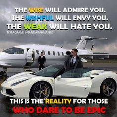 The reality for those who dare to be EPIC! #quote #success #inspiration #motivation #business #entrepreneur #wordsofwisdom