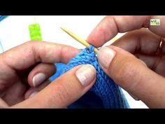 Picking up stitches for neckband | Knitca™