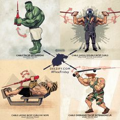 Flex Friday workout, arm exercises