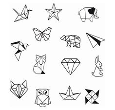 Geometrische Tier Diamond Shapes Knöchel Handgelenk temporäre Tätowierung - Knöchel Tattoo - Party Tattoo to make temporary tattoo crafts ink tattoo tattoo diy tattoo stickers Origami Tattoo, Diy Tattoo, Tattoo P, Tattoo Style, Tattoo Ideas, Tattoo Drawings, Temporary Tattoos, Small Tattoos, Cool Tattoos