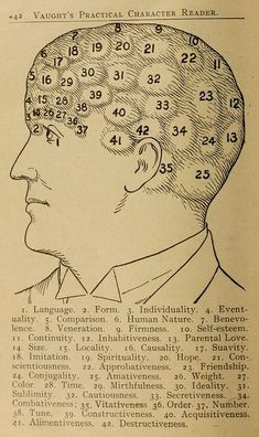 Illustrations from Vaught's Practical Character Reader, a book on phrenology by L. Vaught published in Memento Mori, Reading Body Language, Face Reading, Vintage Medical, Palmistry, Illustrations, Occult, Vintage Images, Pop Culture