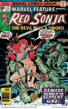 Cover Art by Buscema and Romita. The Mighty Thor Marvel Comics Group. March Crease at right corner of cover. Red Sonja, Marvel Comic Books, Comic Books Art, Comic Art, Book Art, Wonder Woman Comic, Wonder Women, The Frankenstein, Conan The Barbarian