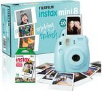 FUJIFILM Instax Mini 8 Instant Camera & 10 Shot Bundle - Blue