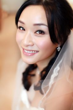 Wedding day bridal makeup for Asians