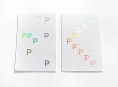 Holographic foil debossed business cards by Pam et Jenny for Place Publique.