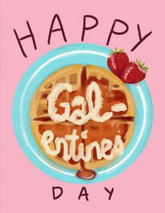"""A card to give your lovely lady friends on the sacred day before Valentine's, Galentines Day. As Leslie Knope famously said, """"Uteruses before duderuses."""" card is x blank inside, and comes with a kraft envelope Parks N Rec, Parks And Recreation, Candy Hearts, Happy Galentines Day, Leslie Knope, Time To Celebrate, Be My Valentine, Little Gifts, Happy Day"""