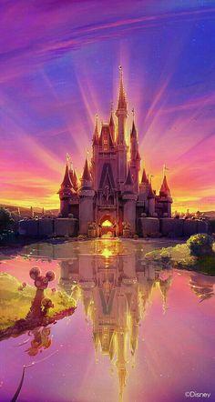 tags : disney color colorful awesome amazing castle disney world disney land magic disney castle beautiful magical disneyworld disneyland Disney Pixar, Walt Disney, Disney And Dreamworks, Disney Magic, Disney Art, Disney Movies, Disney Mural, Kawaii Disney, Disney Logo