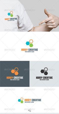 Honey Creative  Logo Design Template Vector #logotype Download it here: http://graphicriver.net/item/honey-creative-logo/5732918?s_rank=5?ref=nesto