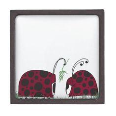 A Guaranteed Kiss Premium Trinket Box. Designed by #OneArtsyMomma  $27.95 #ladybugtrinketbox #ladybugs