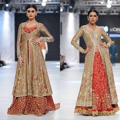These two outfits in red and gold from @saniamaskatiya are perfect for the bride opting for a traditional colour palette. The signature floral detailing and intricate work gets a 10/10 from us. #libasloves #libas #saniamaskatiya #lahore #karachi #pakistan #dubai #london #india #loreal #beautymeetsfashion #plbw16 @pfdcofficial