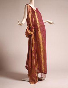 Evening Dress, Jean Patou for Jean Patou (Paris, Couture House): ca. 1923, silk, metal, glass.