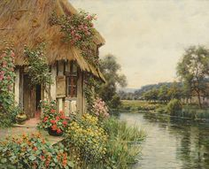 """LOUIS ASTON KNIGHT (French/American 1873-1948) """"Diana's Cottage,"""""""