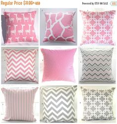 CLEARANCE SALE Pillow Cover, Pillow, Decorative Pillow, Baby, Pink Pillow, Shabby Chic, Cushion, Nursery, Baby Girl, Baby Shower, FAST Shipp