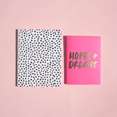 good ideas notebook set - petite party dots + hopes + dreams