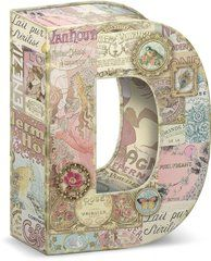 """Garden Party Decorative Letter """"D"""" Storage Box With Magnetic Closure"""