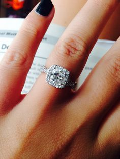 My perfect engagement ring. Vera wang. Gorgeous
