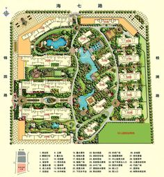 Chinese High-Rise Housing Landscape Diagram, Landscape Sketch, Landscape Design Plans, Landscape Architecture Design, Architecture Plan, Urban Landscape, Plaza Design, Mall Design, Site Development Plan