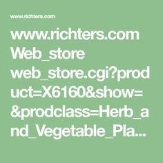 www.richters.com Web_store web_store.cgi?product=X6160&show=&prodclass=Herb_and_Vegetable_Plants&cart_id=111.132