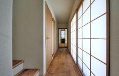 japanese residence, shouji, 廊下, 障子