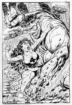She-Hulk vs Hulk by John Byrne