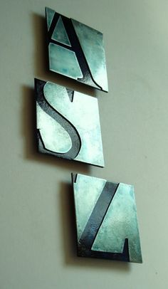 Love this metalized typography wall art