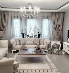 Diffe Chandelier But Loveee Modern Living Room Curtains Luxury Rooms Curtain Ideas For