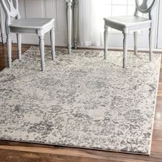 Shop for nuLOOM Vintage Floral Grey Rug (8' x 10'). Get free shipping at Overstock.com - Your Online Home Decor Outlet Store! Get 5% in rewards with Club O! - 18991726