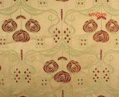 Fabric designed by Charles Rennie Mackintosh