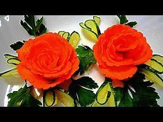 Самый легкий способ украсить блюдо: цветок из моркови! | I Love Hobby - Лучшие мастер-классы со всего мира!