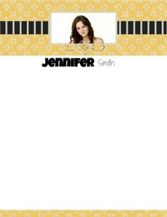 Free personalized stationery with your photo and name / monogram ...