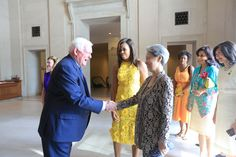 SINGAPORE — Madam Ho Ching and US first lady Michelle Obama attended a cultural event intended to highlight arts education in Washington, DC, on Tuesday (Aug 2). The event was held at the National Gallery of Art in the morning astheir husbands, Prime Minister Lee Hsien Loong and US President Barack Obama, met for bilateral talks at the White House. Accompanied by Mr Earl A Powell III, director of the museum, the leaders' wives toured the museum, stopping at an 1860 oil portrait of Abraham…