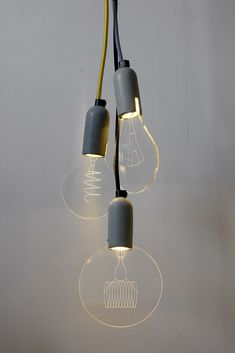 """A unique and innovative take-off from the """"carbon bulbs"""". Our bulbs are 100% made in-house from a durable concrete base, an efficient LED…"""